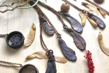 Oxidized Copper seed pods